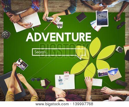 Adventure Exploration  Destination Travel Wanderlust Concept