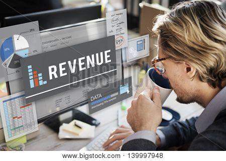 Revenue Money Investment Research Data Concept
