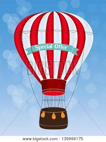 Air Balloon Sky Background Vector Illustration EPS10