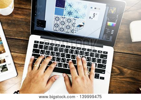 Laptop Connection Technology Design Illustration Concept