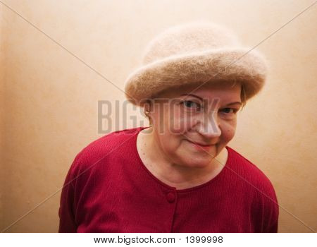 Old Lady In Hat