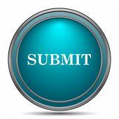 Submit icon. Internet button on white background. poster