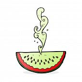 cartoon juicy squirting watermelon poster