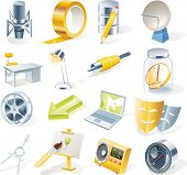 Vector objects icons set. Part 11 poster
