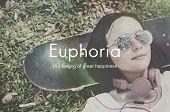 Euphoria Feeling Great Pleasure Happiness Concept poster