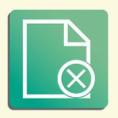 File Cancel Icon In Vector Format. Premium Quality File Cancel Symbol. Web Graphic File Cancel Sign On Green Light Background. poster