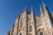 Duomo Cathedral of Milan Italy - roof detail spiers poster