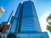 High dynamic range HDR European Central Bank in Frankfurt am Main Germany poster