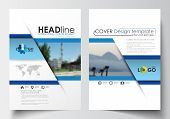Business templates for brochure, magazine, flyer, booklet or annual report. Cover design template, easy editable blank, abstract layout in A4 size. poster