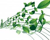 Vector musical notes staff background for design use poster