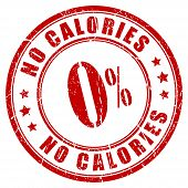 No calories rubber stamp isolated on white background poster