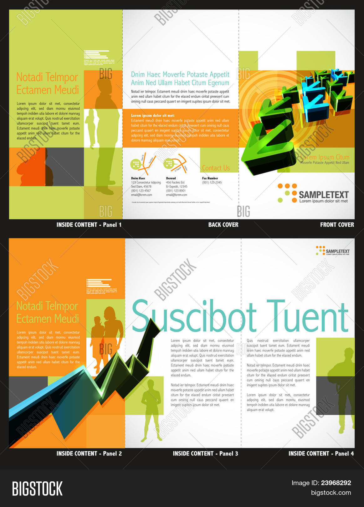 Trifold Brochure Layout Design Vector Photo Bigstock - Brochure layout template