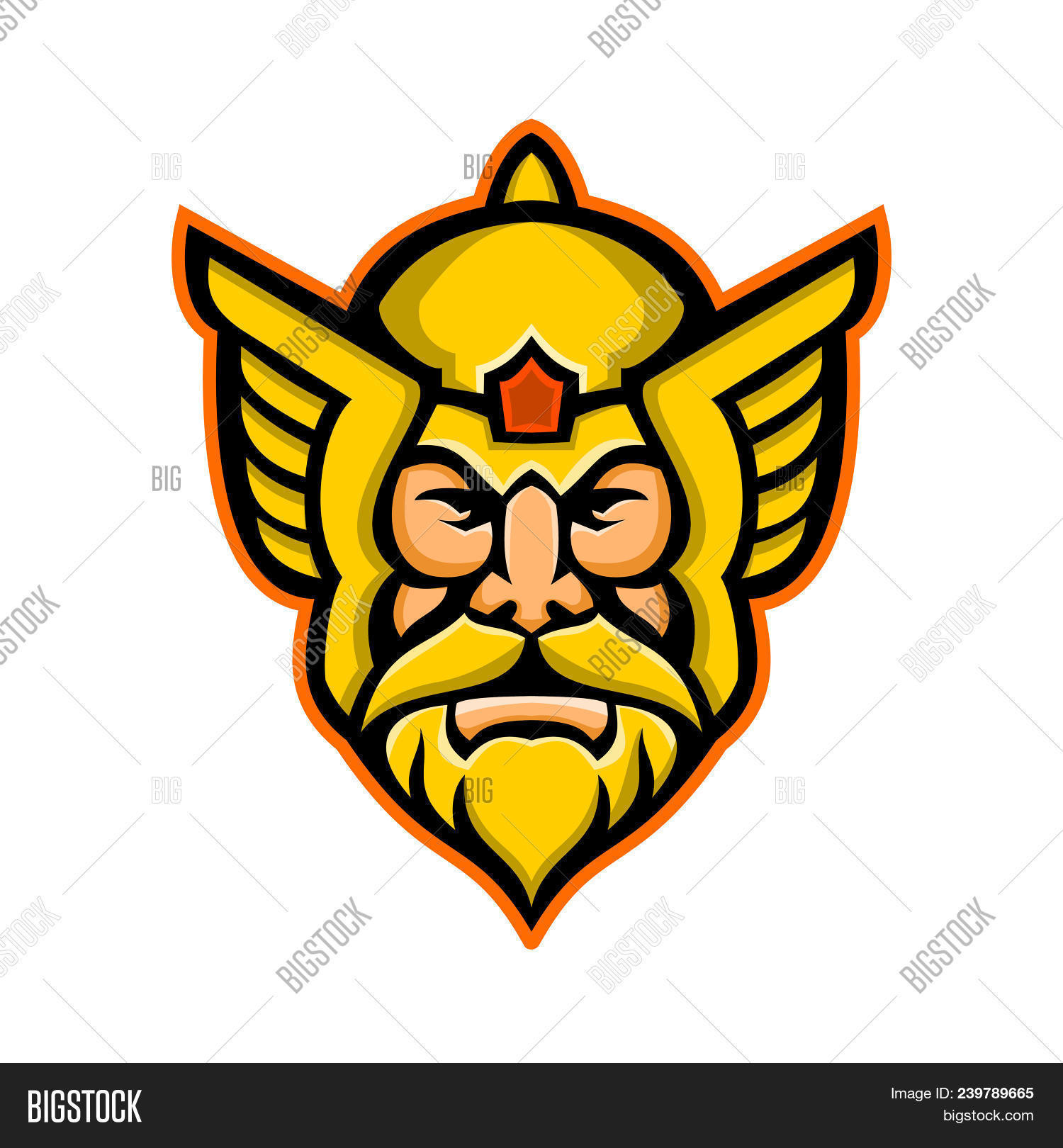 mascot icon image photo free trial bigstock rh bigstockphoto com Thor Face Comic Drawings Two- Face Logo
