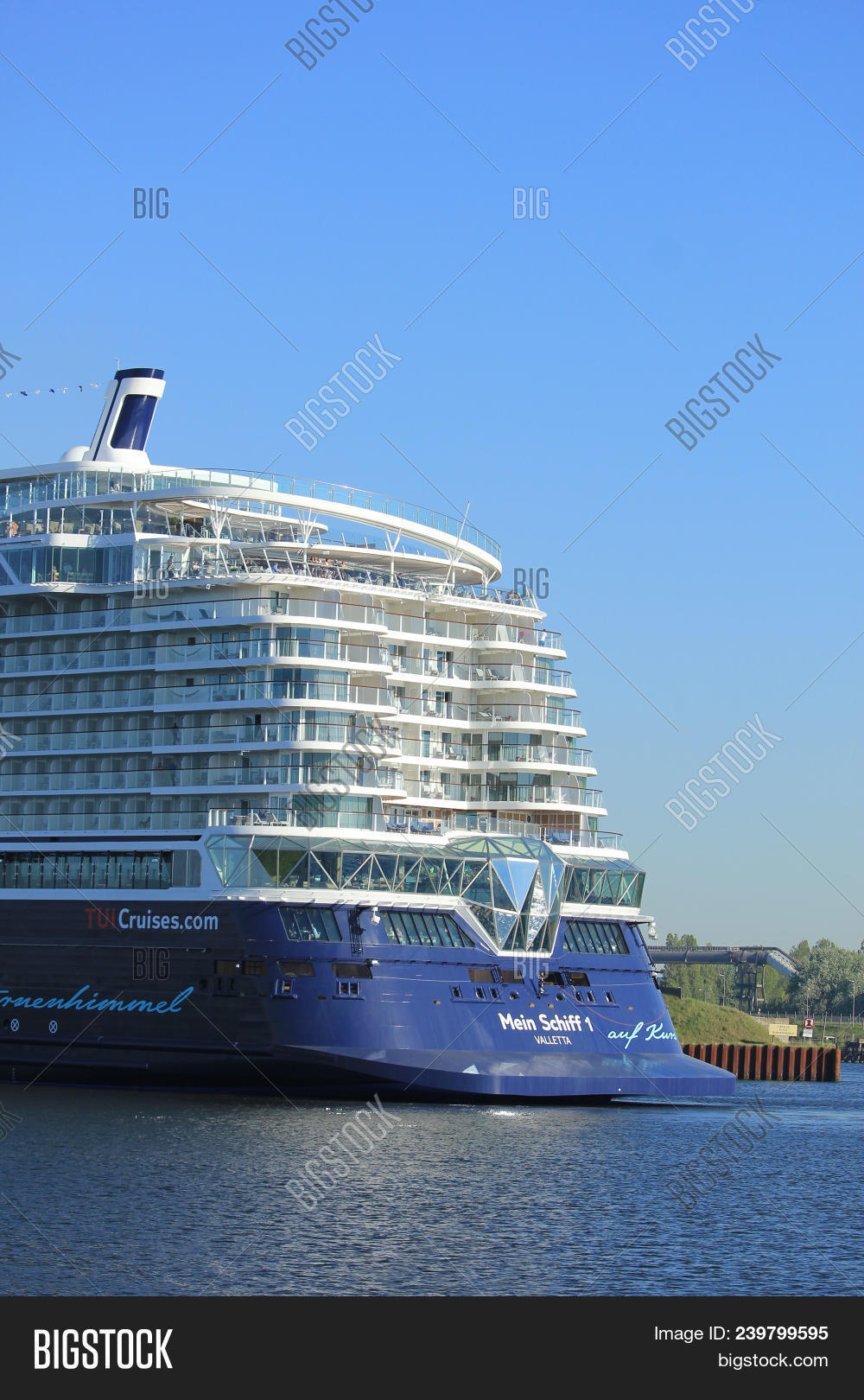 Velsen, The Netherlands - May 8th 2018  Mein Schiff 1, Tui Cruises On 0c13f86eda