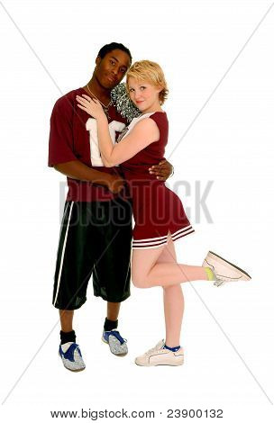 Football Player And Cheerleader Couple