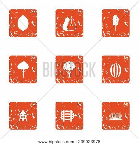 Savory Icons Set. Grunge Set Of 9 Savory Vector Icons For Web Isolated On White Background