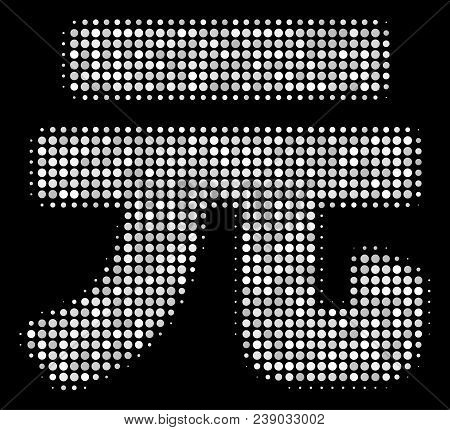 Yuan Renminbi Halftone Vector Icon. Illustration Style Is Pixelated Iconic Yuan Renminbi Symbol On A