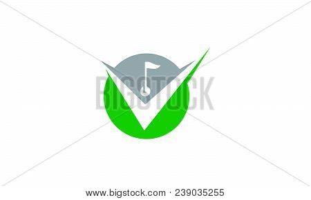 Golf Club Solutions Logo Design Template Isolated Vector