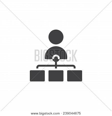 Teamwork Vector Icon. Filled Flat Sign For Mobile Concept And Web Design. Flow Chart Simple Solid Ic