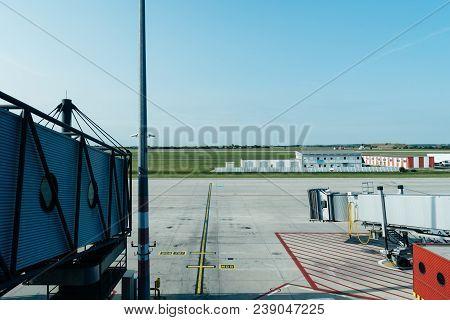 Jetway Or Finger In Runway Of Vaclav Havel Prague Airport