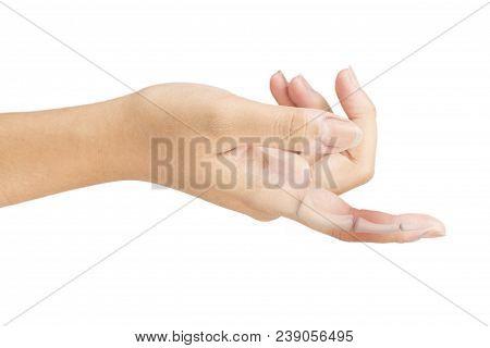Finger Bones Pain White Background Finger Injury