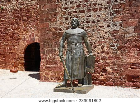Silves, Portugal - June 10, 2017 - Statue Of Sancho I Outside The Castle, Silves, Portugal, Europe,