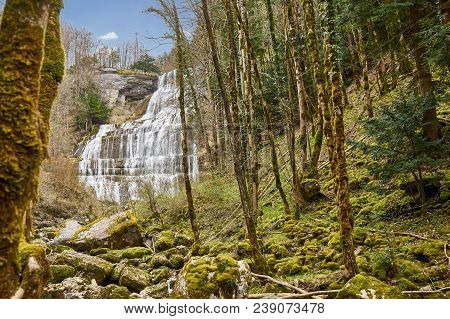 Cascade De L'eventail - Cascade Du Hérisson