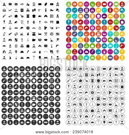 100 Working Professions Icons Set Vector In 4 Variant For Any Web Design Isolated On White
