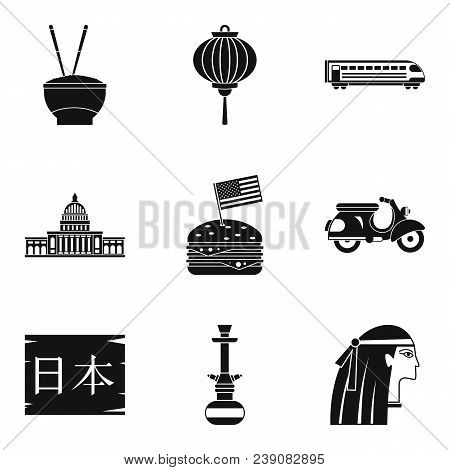 Major Religion Icons Set. Simple Set Of 9 Major Religion Vector Icons For Web Isolated On White Back