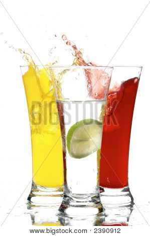 Glasses With Juice And Lemon