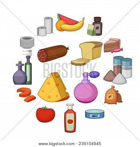 Supermarket Department Icons Set. Cartoon Illustration Of 16 Supermarket Department Vector Icons For