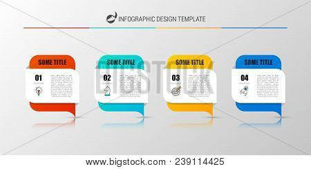 Infographic Design Template. Business Concept With 4 Steps. Can Be Used For Workflow Layout, Diagram