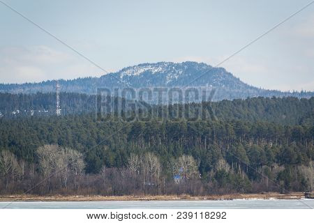 Green Mountain Forest Landscape. . Mountain Forest In Clouds Landscape. Foggy Forest. . Dark Forest