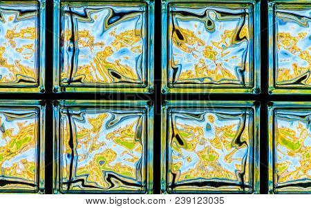 Rough Glass Window, Beautiful Glass Shimmers With Different Colors, House Window