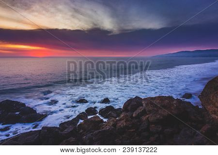 Colorful Point Dume Sunset