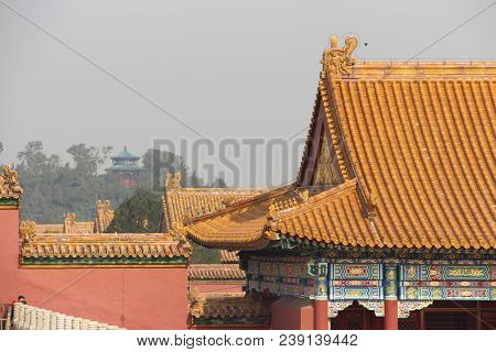 The Forbidden City. An  Imperial Palaces, To Which Entry Was Forbidden To All Except The Members Of