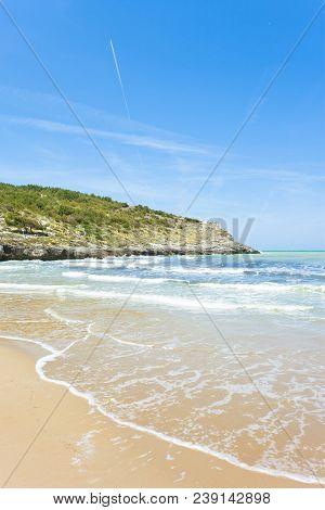 Lido Cala Lunga, Apulia, Italy - Breakers At The Dreamily Beach Of Cala Lunga