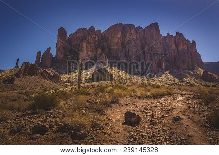 Trail To Superstition Mountains