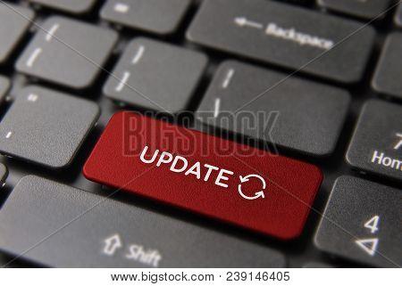 Web Update Process Key Concept On Laptop Keyboard