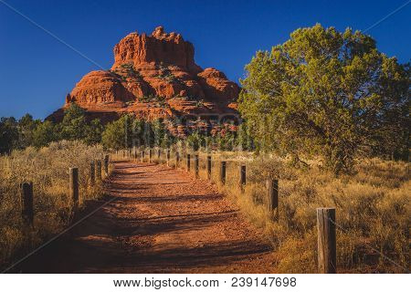 Beautiful Bell Rock Red Rock Formation Viewed From The Bell Rock Trail On A Clear, Sunny Day In The