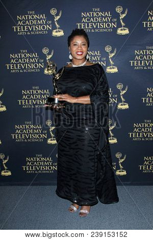 PASADENA - APR 27: Taj Paxton, Outstanding Daytime Promotional Announcement at the 45th Daytime Creative Arts Emmy Awards Gala at the Pasadena Civic Center on April 27, 2018 in Pasadena, California