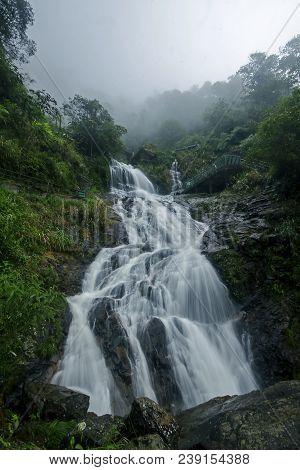 Silver Waterfall In Sapa Is A Beautiful Waterfall.