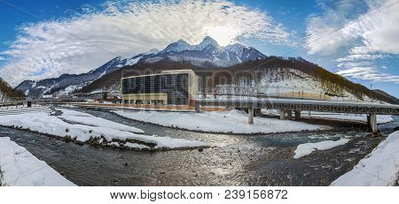 Krasnaya Polyana Is A Resort Village With A Long History. Today This Place Attracts Thousands Of Gue