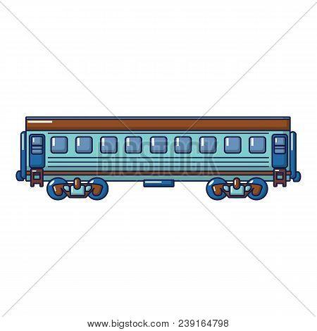 Modern Passenger Wagon Icon. Cartoon Of Modern Passenger Wagon Vector Icon For Web Design Isolated O