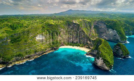Broken beach in Nusa Penida island, Bali, Indonesia
