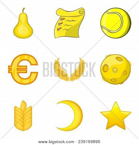 Official Journey Icons Set. Cartoon Set Of 9 Official Journey Vector Icons For Web Isolated On White