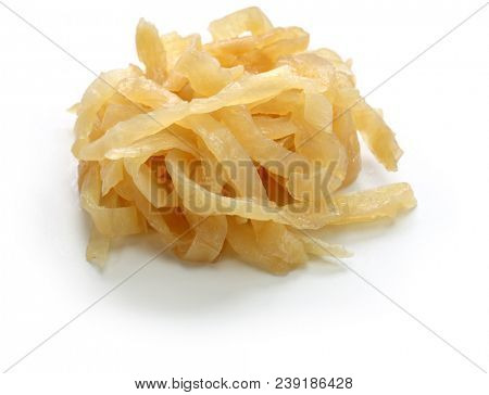 salted jellyfish shreds, chinese foodstuff poster