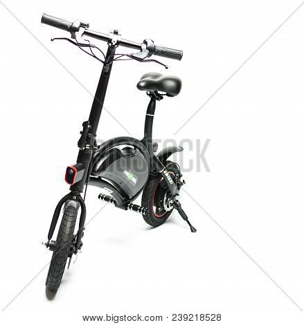 Electric Bike On White Background, Isolated. Illustrative Editorial Content.