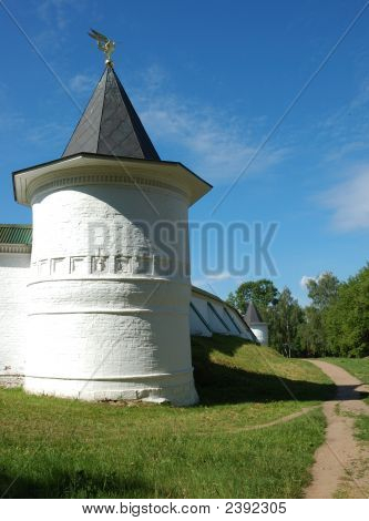 Tower of SS Boris and Gleb Monastery in Dmitrov town Russia near Moscow poster
