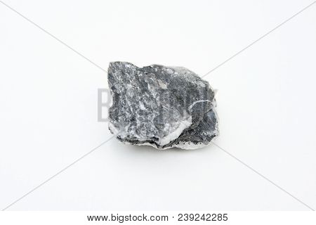 Anhydrite Mineral Isolated Over White